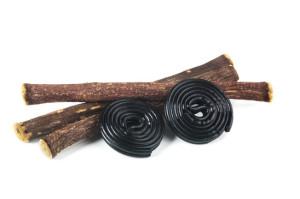 Radici di liquirizia e liquirizia nera