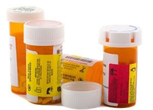 Boccette con medicamenti